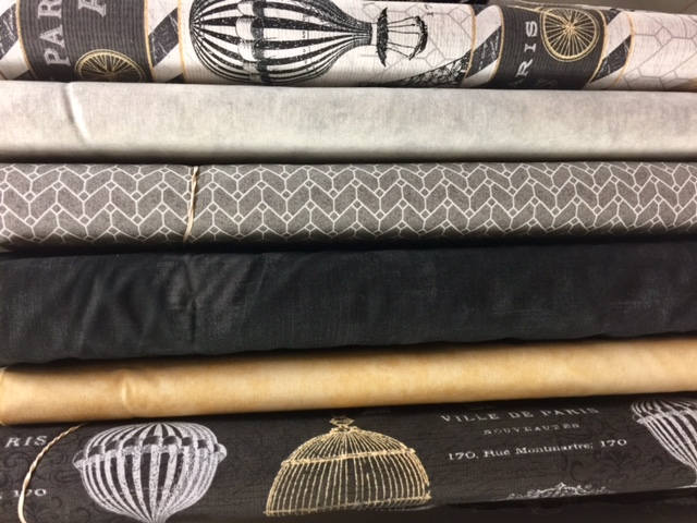 Black Paris Fabric Quilt Quilting Bundle By The Yard Cotton Sewing Quilts Fabrics Home Decor