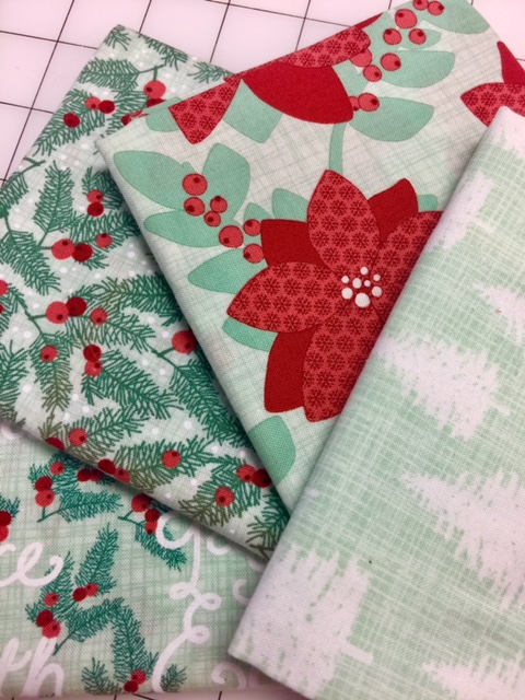 Christmas Fabric Green Quilt Fabric by the yard Fat quarter Cotton Sewing Fabrics Quilts Kate Spain Quilting