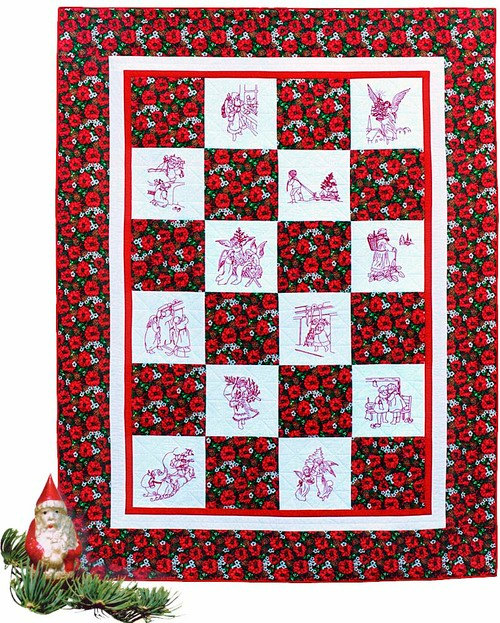 Christmas Pattern Embroidery Quilt Patterns Sewing Quilts Vintage ...