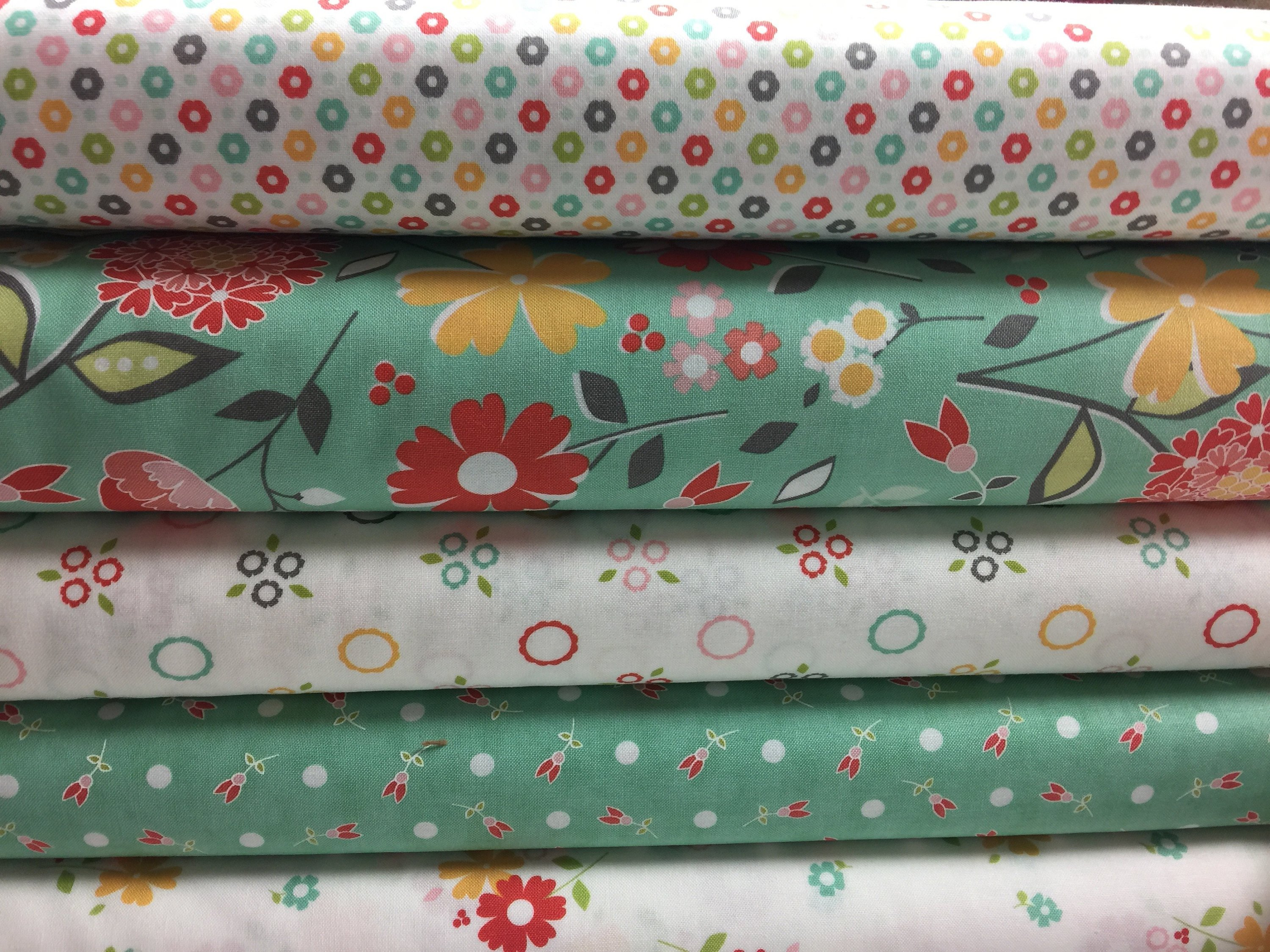Moda Flower Mill Fabric Bundle for quilting by Corey Yoder Fabric by the  yard Quilt Sewing Cotton Fat Quarter Baby Shower Gift Nursery Decor