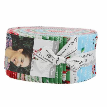 Moda Jelly Roll North Pole Christmas Fabric for Quilting Cotton Quilt  Fabrics Sewing Quilts Gift Pre Cut Red