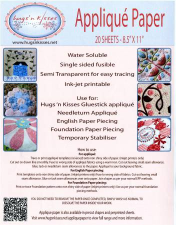 Applique Paper By Hugs N Kisses For Quilting And English Paper Piecing